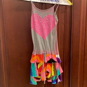 Girls the dye sequined dress